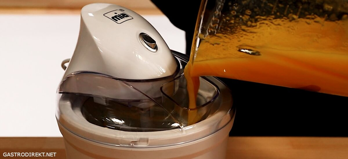 Mia Eismaschine Mangosorbet