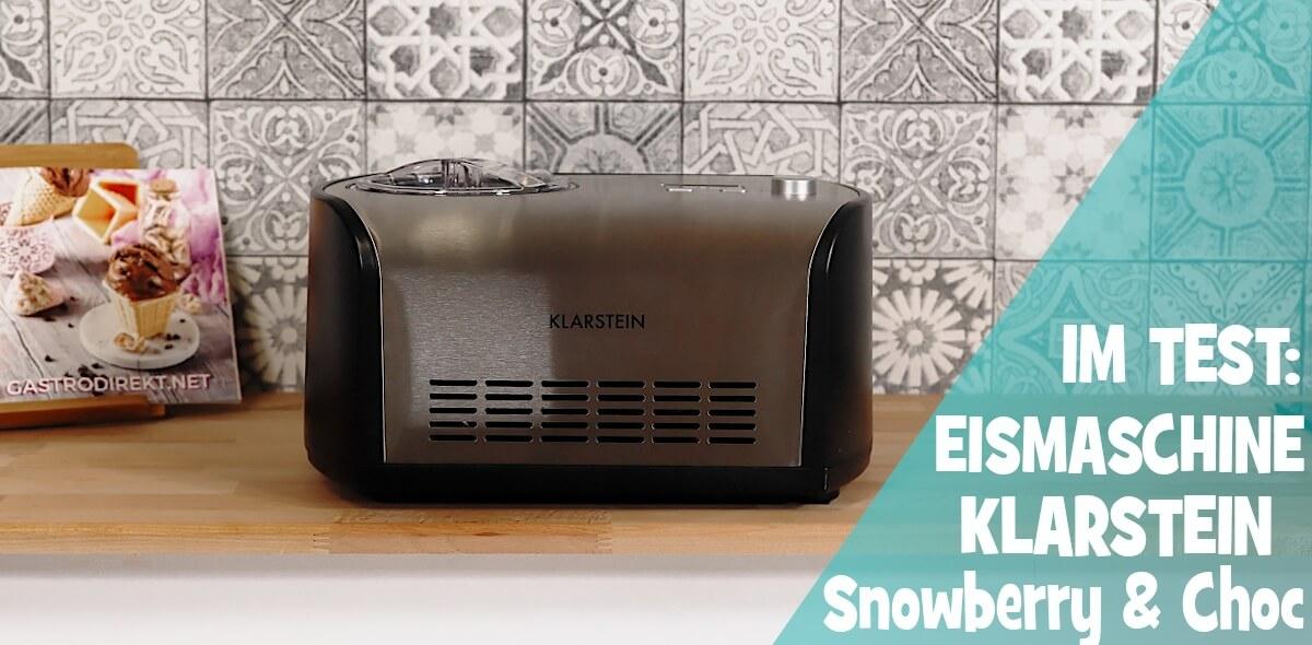 Klarstein Snowberry & Choc im Eismaschinen Test